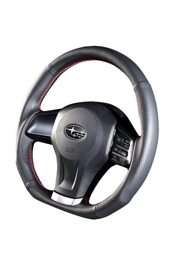 DAMD STEERING WHEEL  For SUBARU XV GJ GP (A ~ D) 11/12 ~ SS360-D Red Stitch