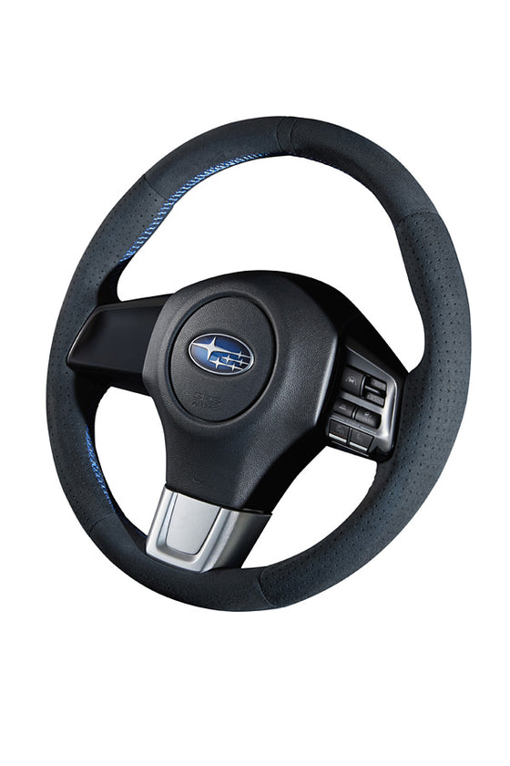 DAMD NARROW STEERING WHEEL  For SUBARU LEVORG VMG VM4 (A~) 14/6~ SS360-RS Ultra suede×blue stitch