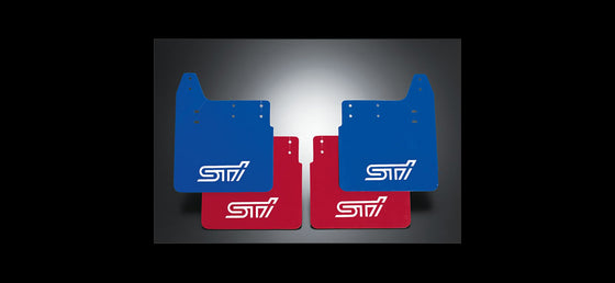 STI MUD FLAP R RED  For IMPREZA 4DooR (GD) ST960104S211