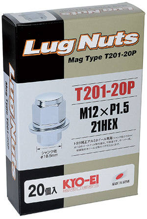 KYO-EI MAG TYPE LUG NUT 20 PIECES M12xP1.5 T201-20P