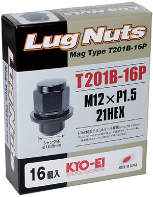 KYO-EI MAG TYPE LUG NUT 16 PIECES M12xP1.5 T201B-16P