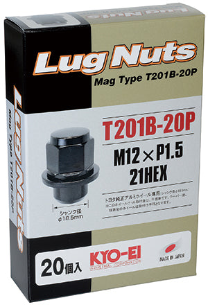 KYO-EI MAG TYPE LUG NUT 20 PIECES M12xP1.5 T201B-20P