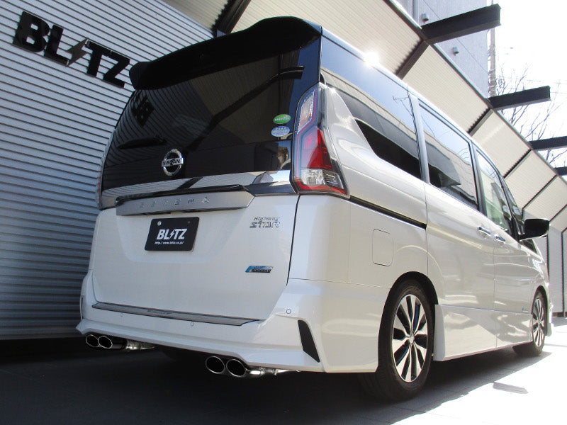 BLITZ NUR-SPEC VS QUAD EXHAUST  For NISSAN SERENA GFC27 MR20DD 63531