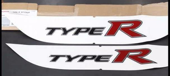 Genuine Honda Type R Sticker for Civic FD2 WHITE 08F30-SNW-000A