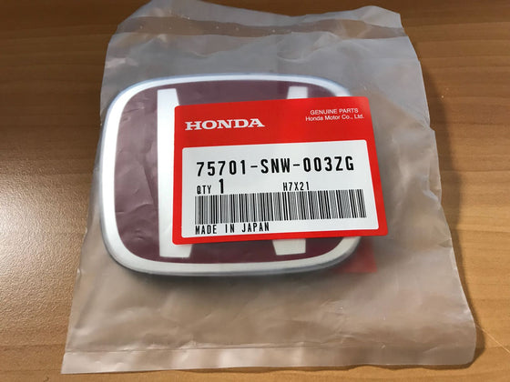 Genuine Honda Logo Emblem for Civic FD2 75701-SNW-003ZG