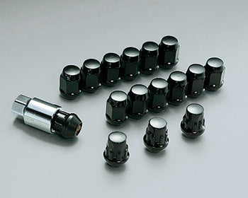 MUGEN Wheel Nut & Lock Set Black  For N-BOX JF3 JF4 08181-M07-K0S0-BL