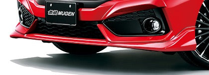 MUGEN Front Under Spoiler Pearl Crystal Black  For CIVIC FK8 71110-XNCD-K0S0-CB