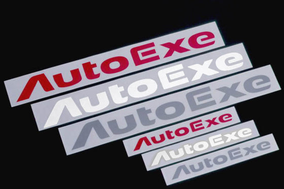 AUTOEXE LOGO STICKER L SIZE RED FOR GOODS  A11200-03