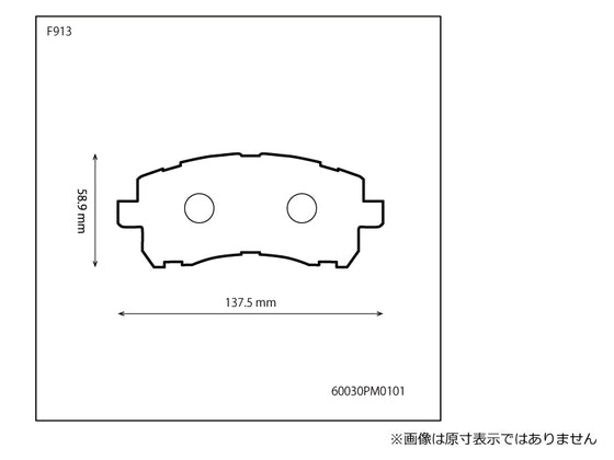 PROVA FRONT SPORT BRAKE PADS SET  For SUBARU FORESTER SF  60030PM0101