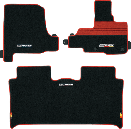 "MUGEN Sports Mat ""black-red""  For N-WGN JH1 JH2 08P15-XMM-K0S0-RD"