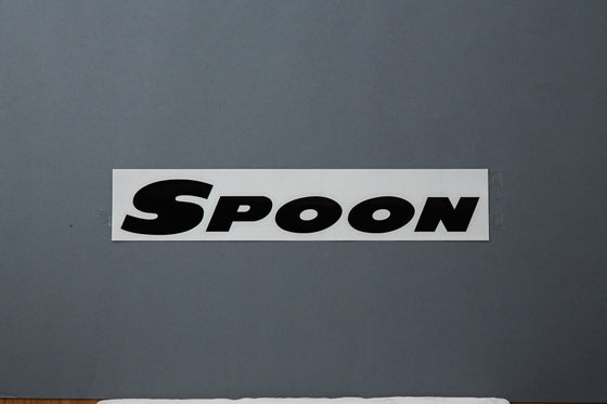 SPOON BLACK [300mm] TEAM STICKER For UNIVERSAL FITTING ALL-90000-B01