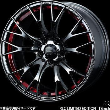 WEDS SPORT SA-20R RLC 18 INCH WHEELS 18x7.5J +45 5x100 RED LIGHT CHROME