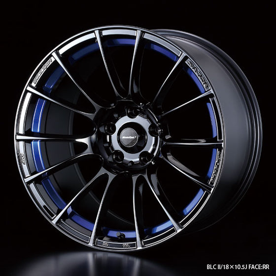 WEDS SPORT SA-72R BBLCII 18 INCH WHEELS 18x7.5J +45 5x100 BLUE LIGHT CHROME II