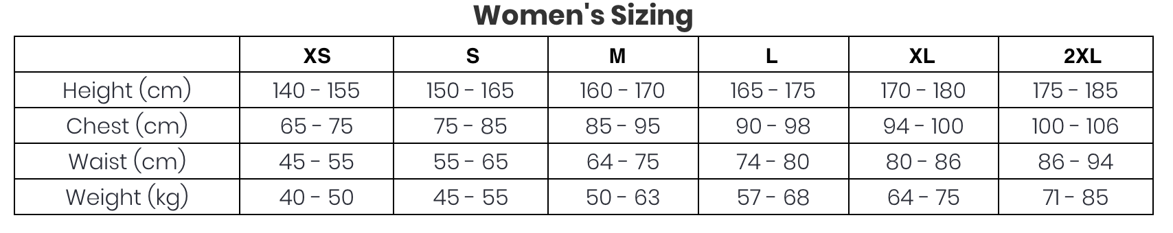 Asian To Us Size Chart A C I