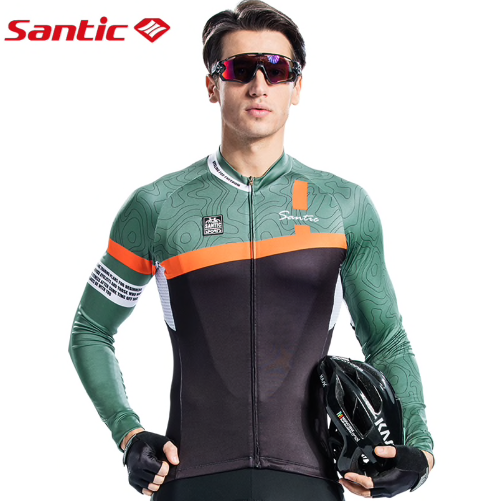 Santic Gro Men's Cycling Jersey with S/L Sleeves