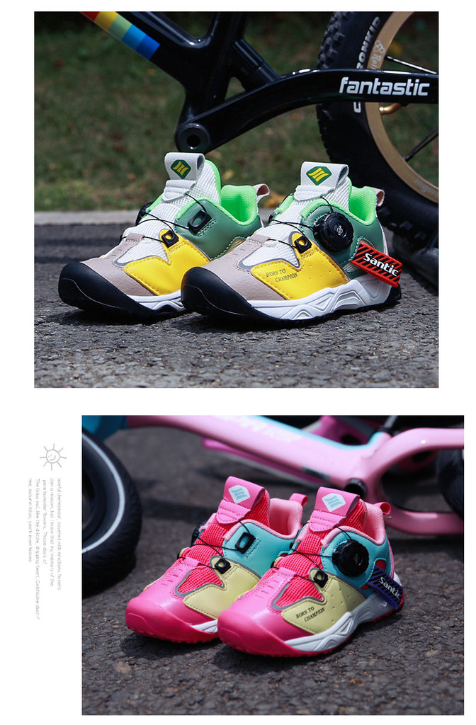 Santic Kids Pikachu Balance Bike Sport Shoes with Dials