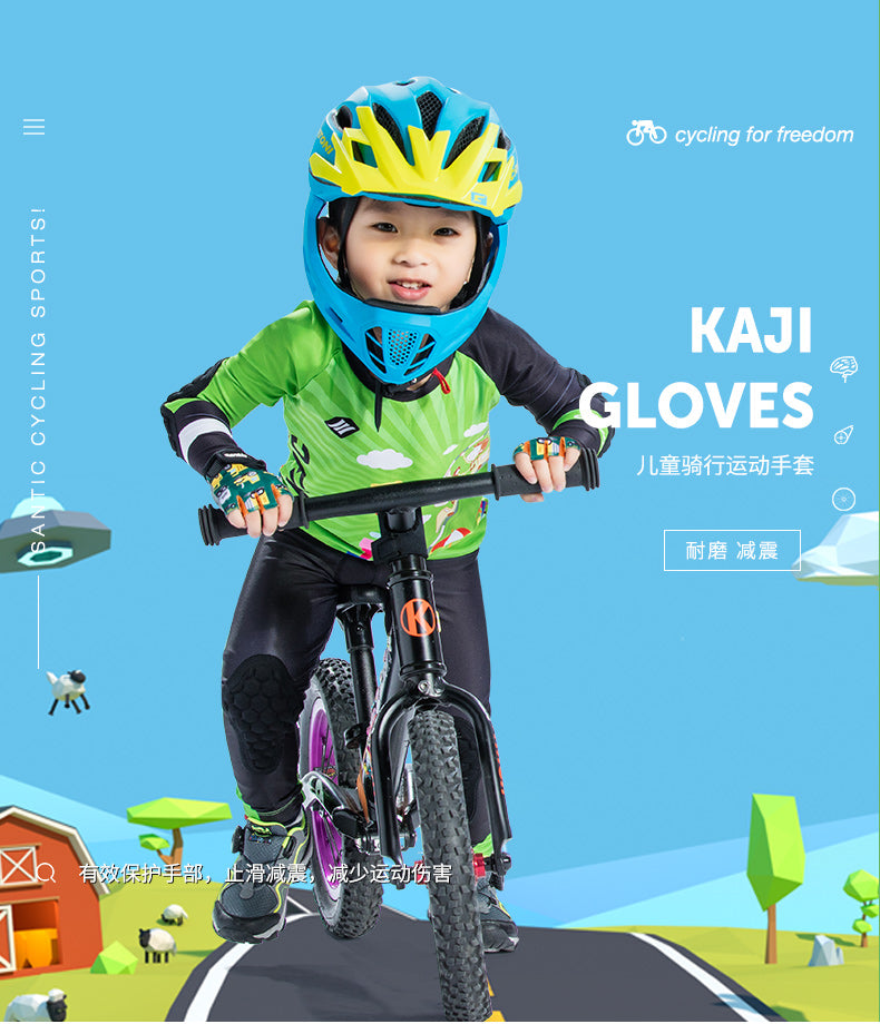 Santic Kids Kaji Half Finger Cycling Gloves