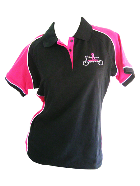 *New Ladies Black/Pink Polo 2018
