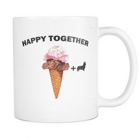 Happy Together : ice cream + corgi - Pupvision - 1