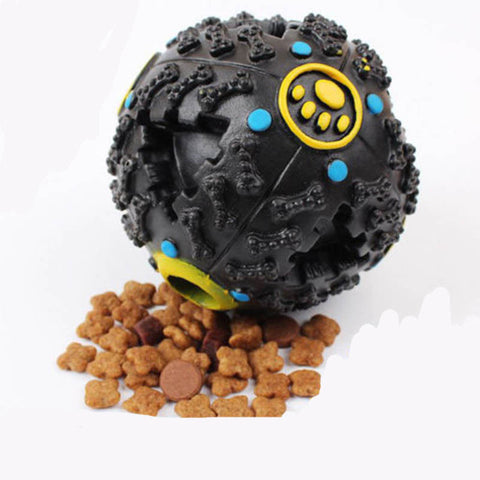 Azerin Petcircle Trumpet Sound Dog Food Puzzle Ball     Leakage Food Ball Dog Toy Pet Shrieking Ball Puzzle Resistant Teeth Bite - Pupvision - 1