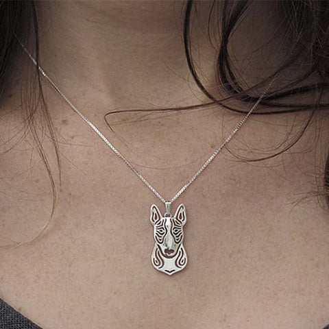 Pit Bull Pendant Animal Silver Necklace - Pupvision - 1