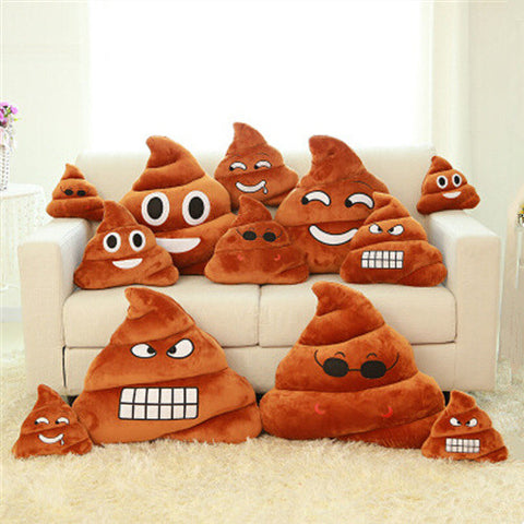 Funny Cute Poo Shape Emoji Pillow
