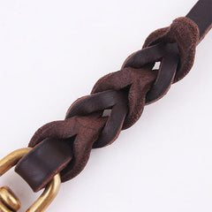 High Quality Genuine Leather Pet Dog Leash Luxury Strong Puppy Collar Leash Lead For Large Dogs S/M/L/XL - Pupvision - 4