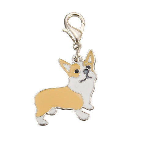 +Cute Metal Corgi Keychain