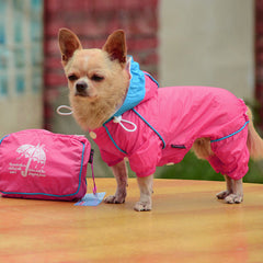 Small Pet Dog Hoody Jacket Rain Coat Waterproof Clothes Slicker Jumpsuit Apparel - Pupvision - 7