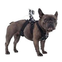 Tripods For GoPro Accessories Adjustable Dog Fetch Harness Chest Strap Belt Mount For Gopro Hero 4 3 SJ4000 Action Sport Camera - Pupvision - 3