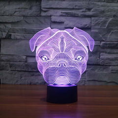 Cute Pug Night Light Lamps