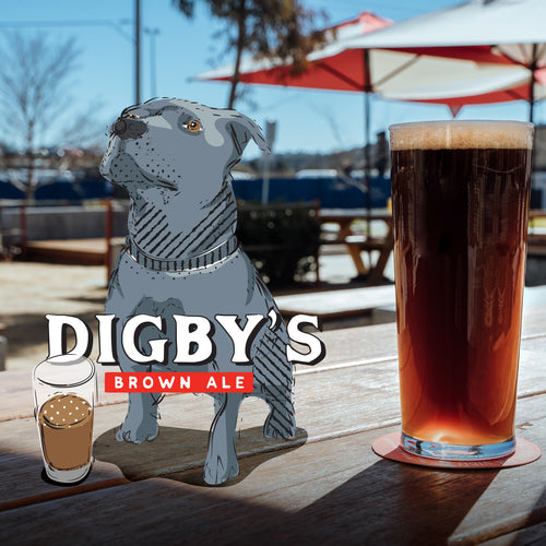 Our latest Special Release 'Digby's Brown Ale' now pouring at the Taproom!