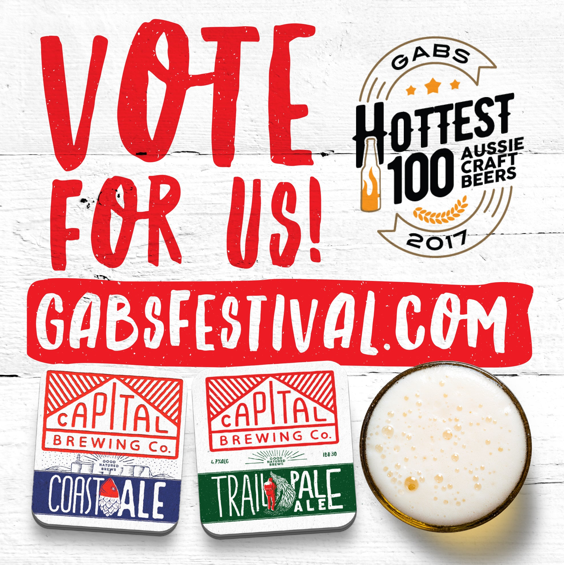 Vote now for Capital brews In The GABS Hottest 100 Crafts Beers