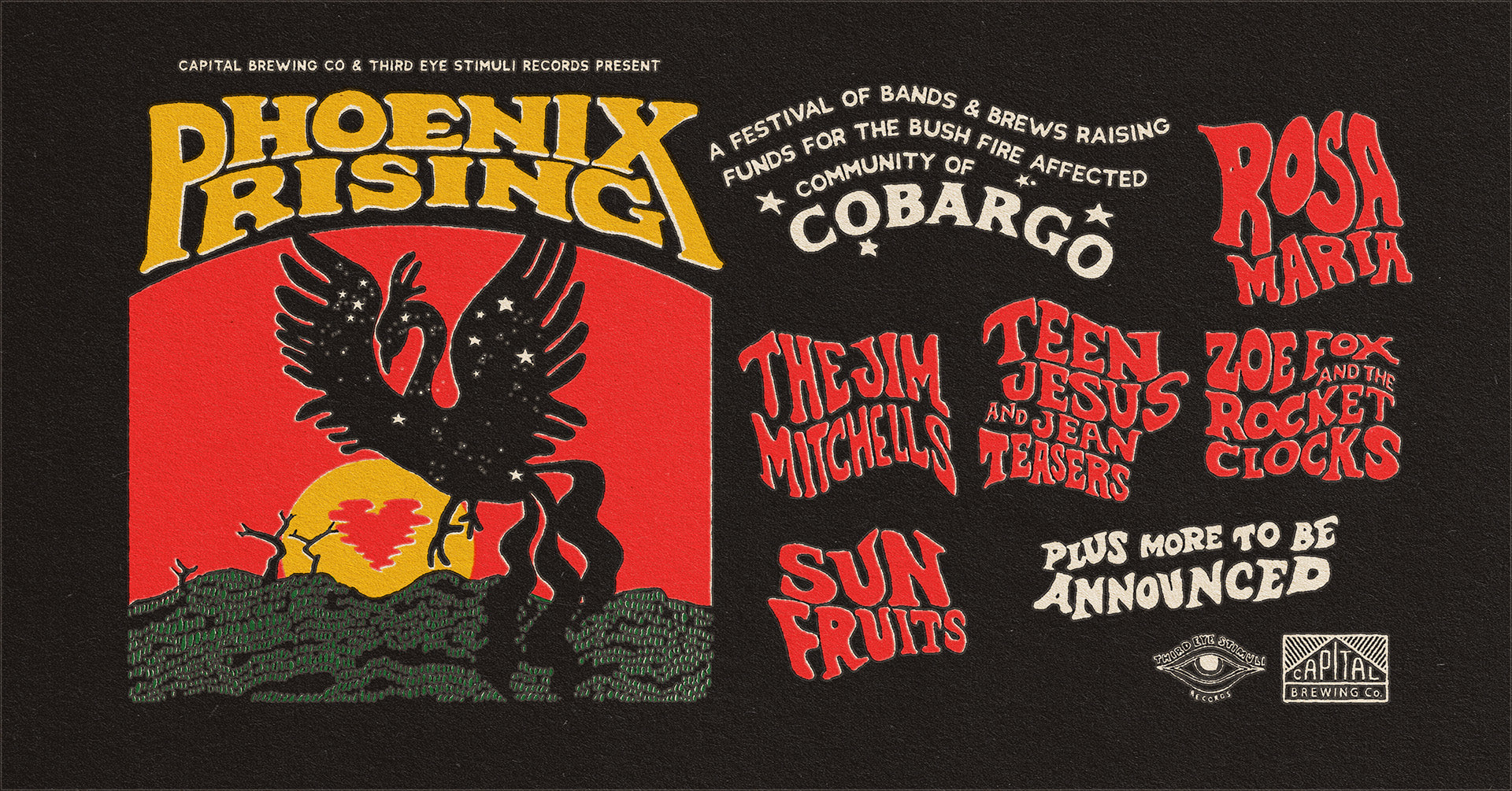 Phoenix Rising: A festival of Bands & Brews for Cobargo | 28 March 2020