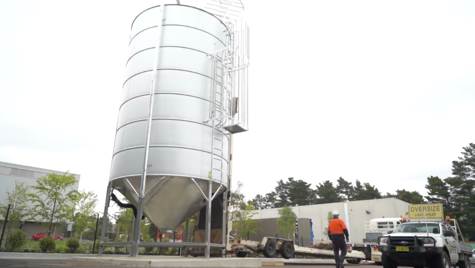 Grain Silo is installed - one step closer to zero waste!