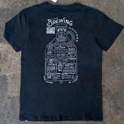 Brewing Process Tee Black