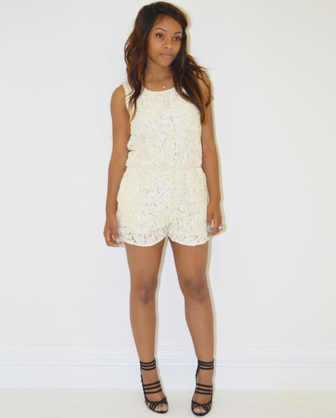 Maraislise Lace Beaded Playsuit