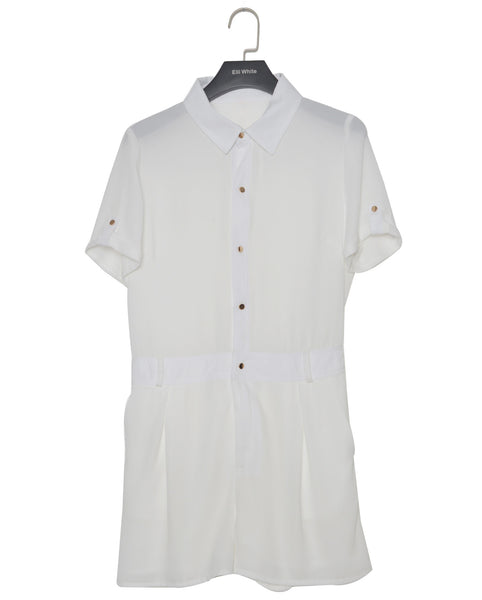 Elli White Utility Playsuit