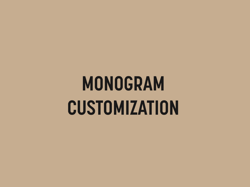 Monogram Customization