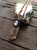 Quartz Crystal with Moonstone Pendant
