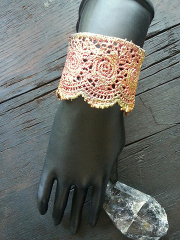 Electroformed Lace Wrist Cuff