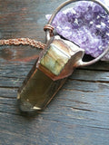 Smoky Citrine and Labradorite Pendant