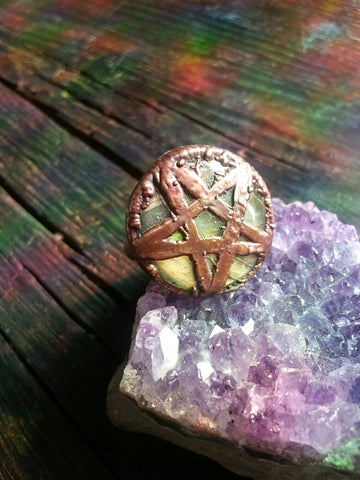 Labradorite Pentacle Ring Size 7.5