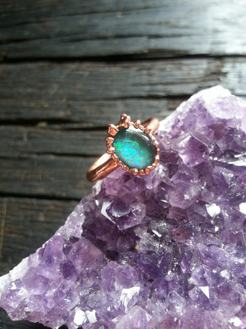 Electroformed Opal Ring Size 5
