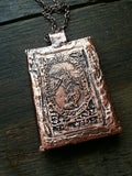 Labradorite Necklace with Tarot Card-The World