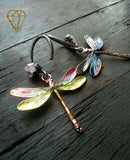 Dragonfly and Amethyst Ear Weights