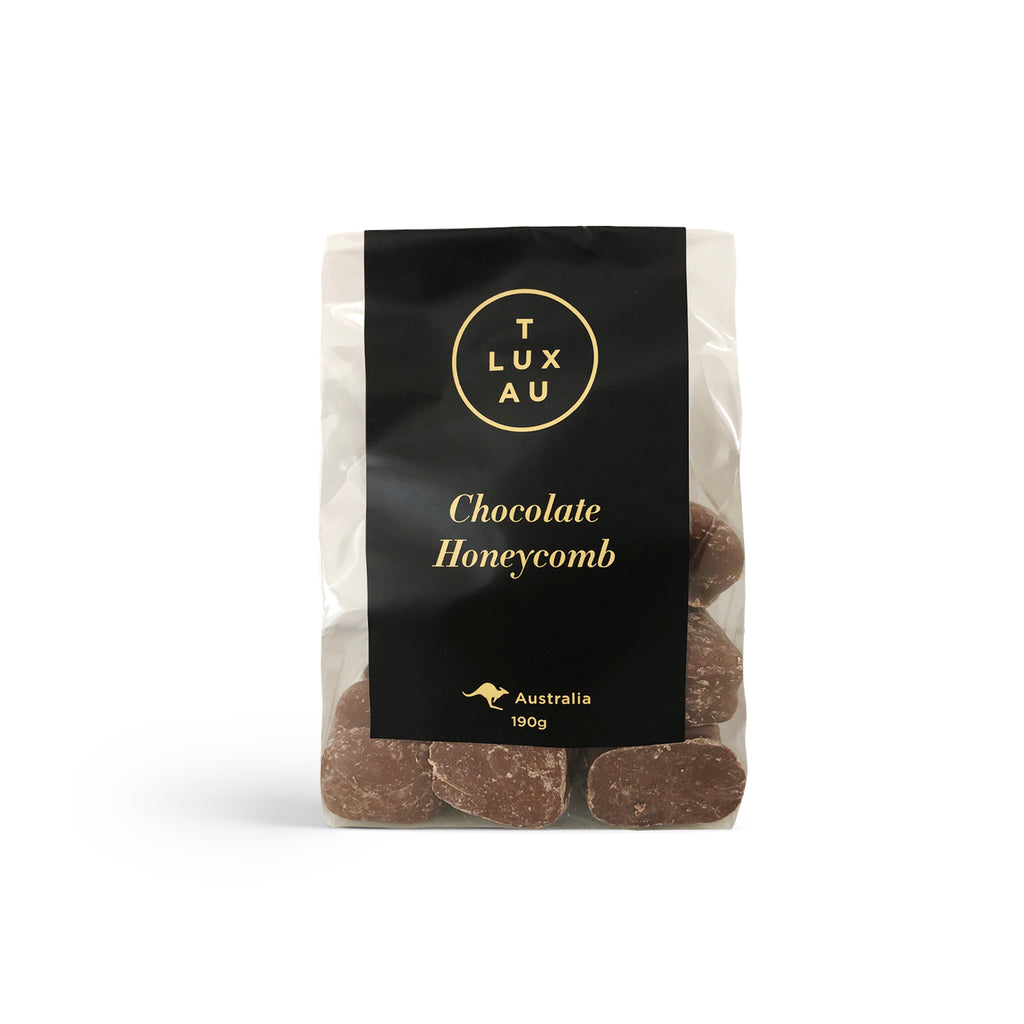 Large Clear Bags / Chocolate Honeycomb 190g - Black Series