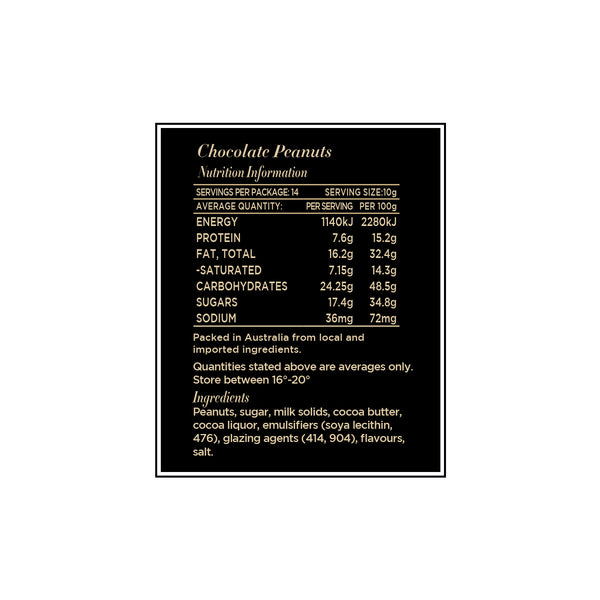 Chocolate Peanuts 140g