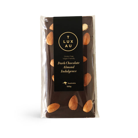 Dark Chocolate Almond Indulgence Block 100g (V) (GF)