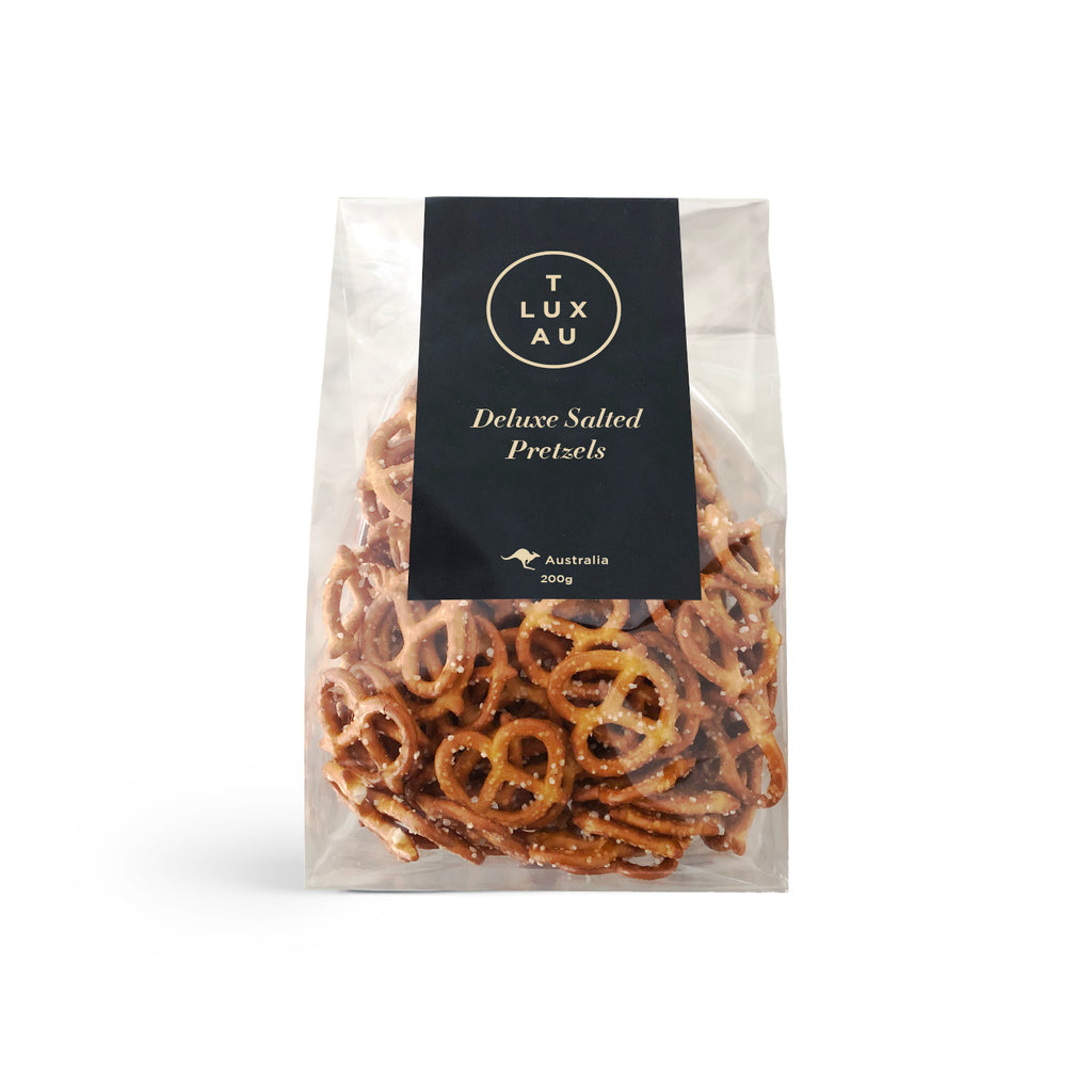 Deluxe Salted Pretzels 200g Family Size Bag